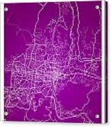 San Salvador Street Map - San Salvador El Salvador Road Map Art  Acrylic Print