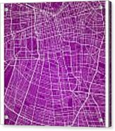 Santiago Street Map - Santiago Chile Road Map Art On Colored Bac Acrylic Print