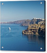 Santorini Caldera Acrylic Print
