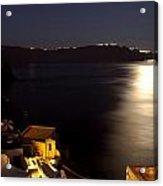Santorini Caldera Moonlight Acrylic Print