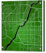 Saskatoon Street Map - Saskatoon Canada Road Map Art On Colored  Acrylic Print