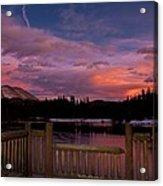 Sawmill Lake Sunset Acrylic Print