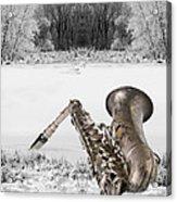 Sax On Snowy River Acrylic Print