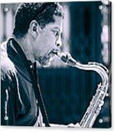Saxophone Player Acrylic Print