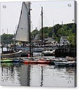 Schooner Camden Harbor - Maine Acrylic Print