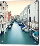 Secluded Canal In Venice Acrylic Print