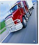 Semi-trailer Truck Acrylic Print by Don Hammond
