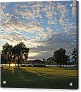 September Sky In Cazenovia Acrylic Print
