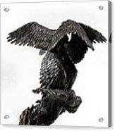 Seraph Angel A Religious Bronze Sculpture By Adam Long Acrylic Print