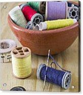 Sewing Supplies Acrylic Print