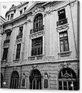 side of Santiago Stock Exchange building Chile Acrylic Print
