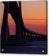 Sidney Lanier Bridge At Sunset Acrylic Print
