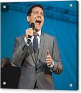 Singer Michael Feinstein Performing With The Pasadena Pops. Acrylic Print