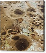 Sinkholes In Southern Dead Sea Area Acrylic Print by Ofir Ben Tov