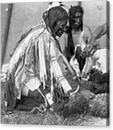 Sioux Medicine Man, C1907 Acrylic Print