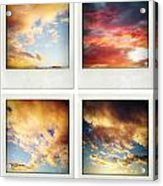 Skies Acrylic Print by Les Cunliffe