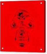 Skull In Red Acrylic Print