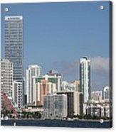 Skyline Miami Acrylic Print