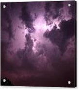 Small But Eruptive Cell North Of Kearney Acrylic Print