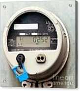 Smart Grid Residential Digital Power Supply Meter Acrylic Print