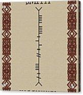 Smith Written In Ogham Acrylic Print