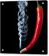 Smoking Red Hot Chilli Pepper  Acrylic Print