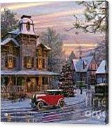 Snow Streets Acrylic Print