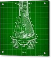 Space Capsule Patent 1959 - Green Acrylic Print