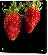 Splash Strawberry Acrylic Print