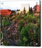 Spokane Falls Acrylic Print by Dan Quam
