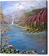 Spring on Glacier Lake Acrylic Print