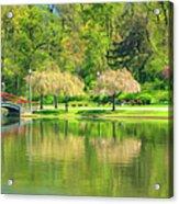 Springtime Reflections Acrylic Print