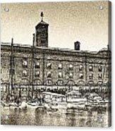 St Katherine's Dock London Sketch Acrylic Print