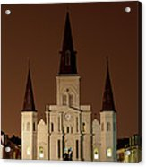 St Louis Cathedral At Night Acrylic Print