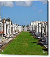 St Louis Cemetery No 3 New Orleans Acrylic Print by Christine Till