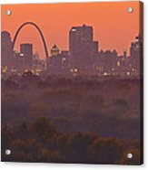 St Louis Skyline And Arch Acrylic Print