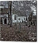 St Margaret Of Antiochs Church Linstead Acrylic Print by Darren Burroughs