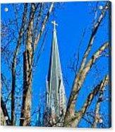 St. Marys Church Steeple Of St Marys Church Acrylic Print