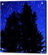 Star Trails In Night Sky Acrylic Print