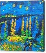 Starry Night Bridge Acrylic Print