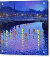 Starry Night In Dublin Acrylic Print