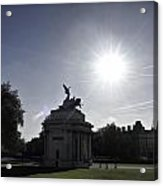 Statue Of Angel Of Peace Atop The Wellington Arch Acrylic Print