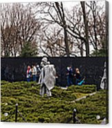 Statues Of Soldiers At A War Memorial Acrylic Print