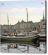 Stockholm City Harbor Sunrise Acrylic Print