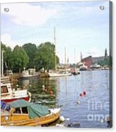 Stockholm City Harbor Acrylic Print