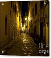 Street Alley By Night Acrylic Print