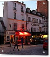 Street Scenes - Paris France - 01133 Acrylic Print by DC Photographer
