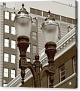 Streetlights - Lansing Michigan Acrylic Print
