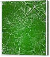Stuttgart Street Map - Stuttgart Germany Road Map Art On Colored Acrylic Print