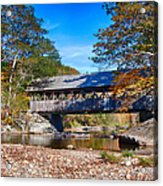 Sunday River Covered Bridge Acrylic Print